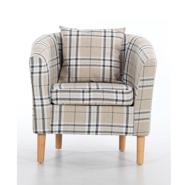 Fabric Tub Chairs Edinburgh Tartan Fabric Tub Chair