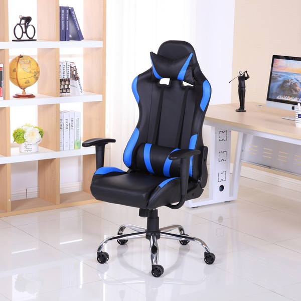 gaming chairs luxury reclining leather sports racing gaming office