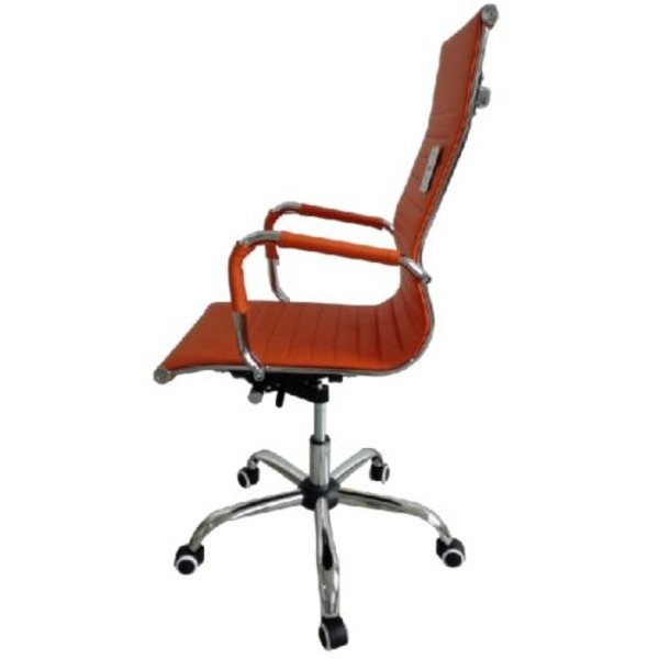 eames ribbed chair tan office. Eames Style High Back Ribbed Executive Computer Office Chair Orange Tan