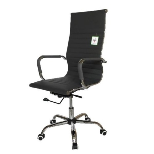 eames style office chairs. Eames Style High Back Ribbed Executive Computer Office Chair Grey Chairs