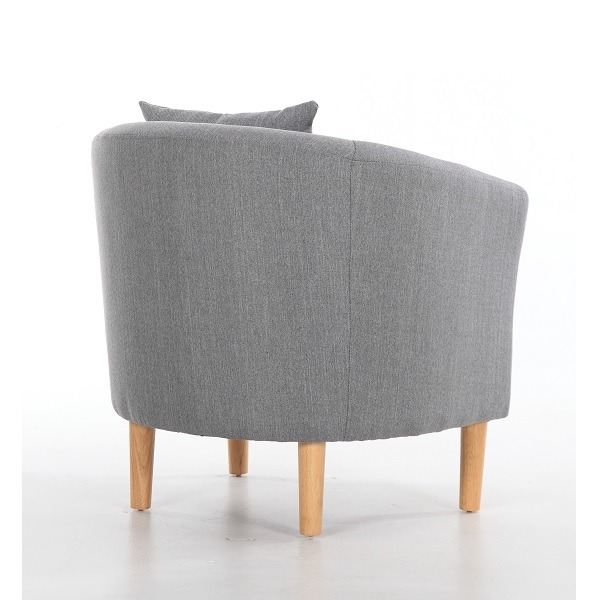 Fabric Tub Chairs York Fabric Tub Chair Armchair Dark Grey