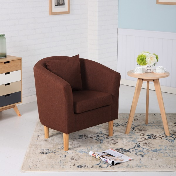 Fabric Tub Chairs York Fabric Tub Chair Armchair Dark ...