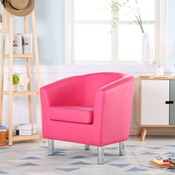 Leather Tub Chairs Camden Leather Tub Chair Armchair Pink · Chairs ...