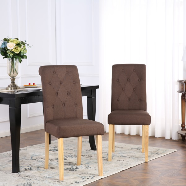 Dining Chairs Set Of 2 Kensington Fabric Dining Chairs