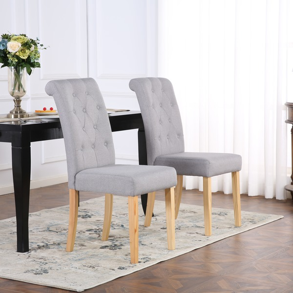 Dining Room Chairs Fabric: Dining Chairs Set Of 2 Kensington Fabric Dining Chairs
