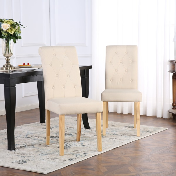 best service 5b079 7b0a8 Dining Chairs Set of 2 Kensington Fabric Dining Chairs ...