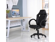 Executive Leather Gaming Sports Racing Office Computer Chair Black