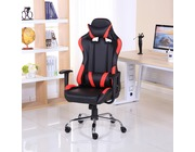 Luxury Reclining Leather Sports Racing Gaming Office Computer Chair Red