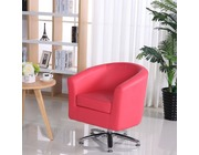 Camden Leather Swivel Tub Chair Armchair Pink
