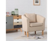 York Fabric Tub Chair Armchair Cream