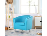 Camden Leather Tub Chair Armchair Aqua Blue