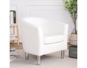 Camden Leather Tub Chair Armchair White