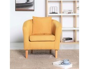 York Fabric Tub Chair Armchair Yellow