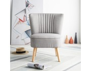 Harrogate Fabric Accent Tub Chair Armchair Light Grey