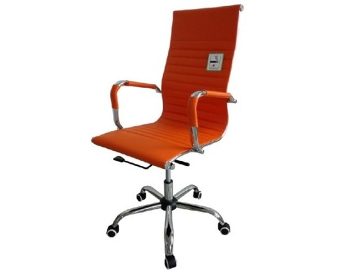 Eames Style High Back Ribbed Executive Computer Office Chair Orange