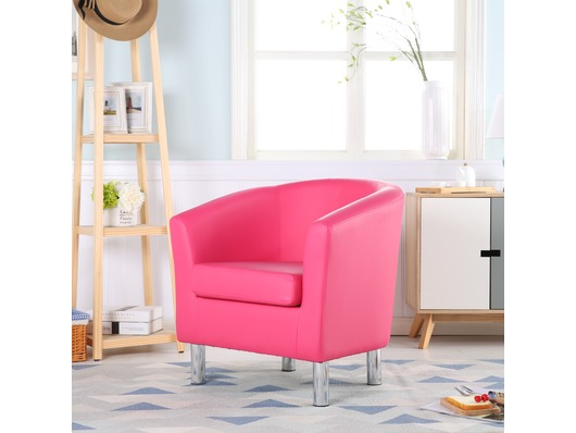 Camden Leather Tub Chair Armchair Pink