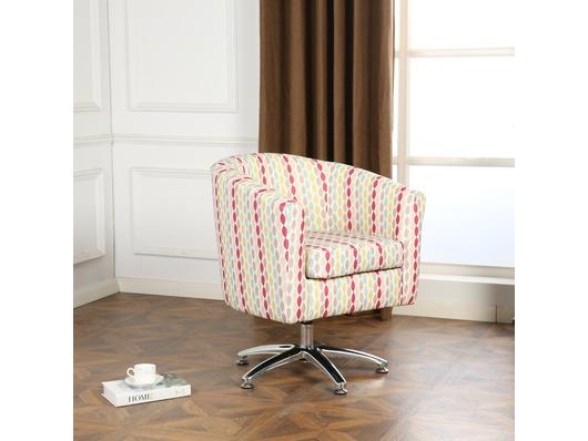Designer Twist Fabric Swivel Tub Chair Armchair
