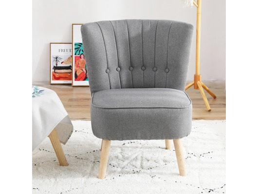 Chester Fabric Accent Tub Chair Armchair Dark Grey
