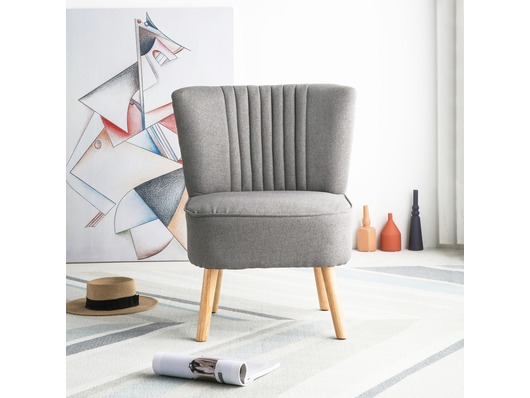 Harrogate Fabric Accent Tub Chair Armchair Dark Grey