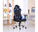 Luxury Reclining Leather Sports Racing Gaming Office Computer Chair Blue
