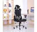 Luxury Reclining Leather Sports Racing Gaming Office Computer Chair White