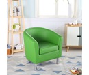 Camden Leather Tub Chair Armchair Green