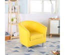 Camden Leather Tub Chair Armchair Yellow