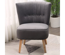 Chester Velvet Fabric Accent Tub Chair Armchair Dark Grey