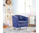 Camden Leather Tub Chair Armchair Royal Blue
