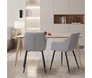 Set of 2 Toronto Fabric Dining Chairs Light Grey