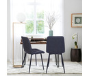Set of 2 Dublin Vintage Leather Dining Chairs Dark Grey