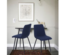 Set of 2 Dublin Fabric Dining Chairs Blue