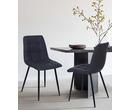 Set of 2 Vienna Vintage Leather Dining Chairs Dark Grey