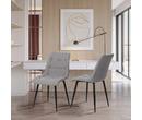 Set of 2 Lisbon Fabric Dining Chairs Light Grey