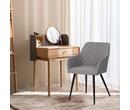 Set of 2 Havana Fabric Dining Chairs Light Grey